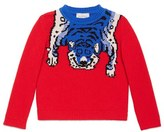 Gucci Girl's Intarsia Tiger Wool Sweater