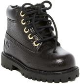 Timberland 6in Premium Waterproof Black Textured Boot (Toddler & Little Kid)