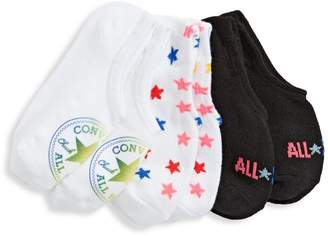 Converse 3-Pack No-Show Rainbow Sock Set