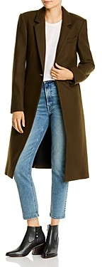 Rag & Bone Wool-Blend Single-Button Long Coat
