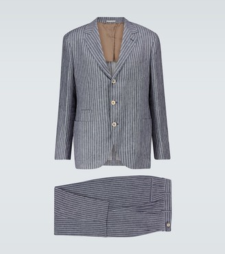 Brunello Cucinelli Exclusive to Mytheresa striped linen suit