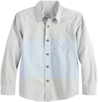 Sonoma Goods For Life Boys 4-12 Colorblocked Button Down Shirt