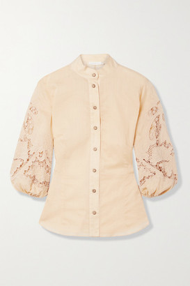 Zimmermann Brighton Broderie Anglaise Cotton Blouse