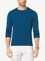 Michael Kors Striped Cotton Crewneck Sweater