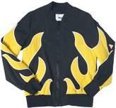 MSGM Printed Nylon Bomber Jacket