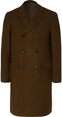 Club Monaco Double-breasted Wool-blend Overcoat - Green
