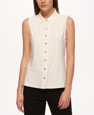Tommy Hilfiger Sleeveless Button-Up Shirt