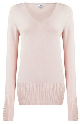 Dorothy Perkins Womens Dp Tall Blush Pearl V Neck Jumper