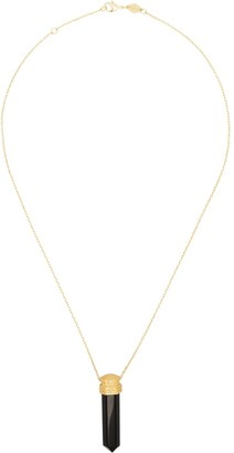 Anni Lu 18kt gold-plated L.A. Spirit onyx pendant necklace