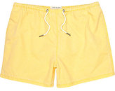 River Island MensYellow washed short swim trunks
