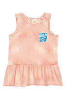 Tucker + Tate Stripe Peplum Tank (Toddler Girls, Little Girls & Big Girls)