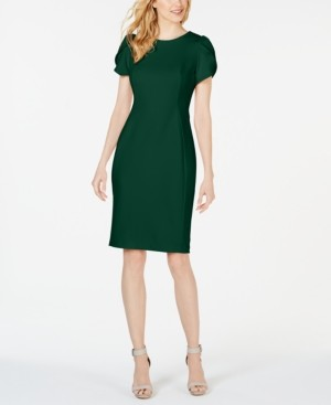 Calvin Klein Petite Tulip-Sleeve Sheath Dress
