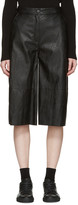 MM6 MAISON MARGIELA Black Faux-Leather Culottes