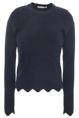 Autumn Cashmere Ribbed Merino Wool-blend Sweater