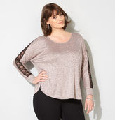 Avenue Marled Lace Sleeve Hatchi Top