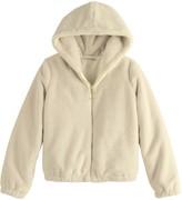 Self Esteem Girls 7-16 Faux Furry Hooded Jacket