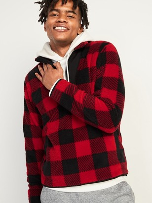 Old Navy Cozy Sherpa Half-Zip Mock-Neck Sweatshirt for Men
