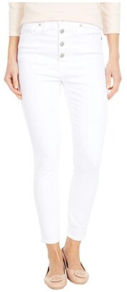 Madewell 10 High-Rise Skinny Crop Jeans in Pure White: Button-Front Edition (Pure White) Women's Jeans