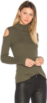 1 STATE Mock Neck Cold Shoulder Sweater