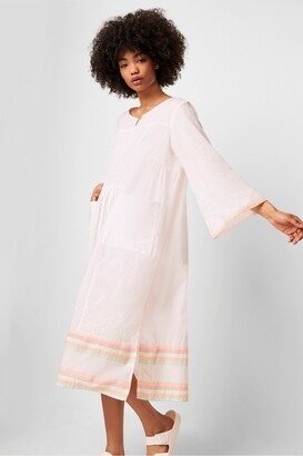 French Connection Arina Embroidered Smock Dress