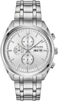 Bulova Men's Chronograph Stainless Steel Silver Dial Bracelet Watch, 42mm