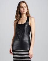 Bailey 44 Java Faux-Leather Top
