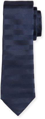 BOSS Men's Horizontal Stripe Silk Tie