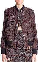 Suno Women's Rib Neck Bomber Jacket