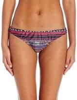 Jessica Simpson Women's Cherokee Queen Looped Front Classic Bikini Bottom