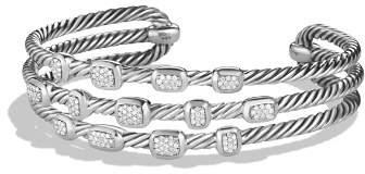 David Yurman Confetti Narrow Cuff Bracelet with Diamonds
