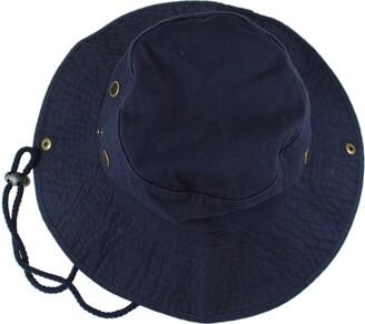 Gelante 100% Cotton Stone-Washed Safari Booney Sun Hats - Blue - S/M
