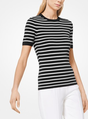 Michael Kors Striped Viscose T-Shirt