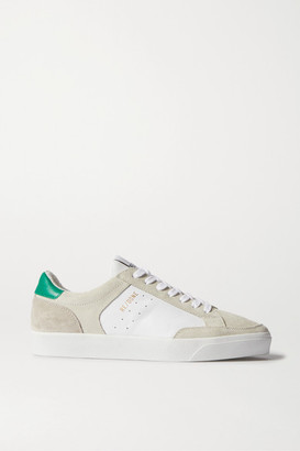 RE/DONE 90s Skate Suede And Leather Sneakers - White