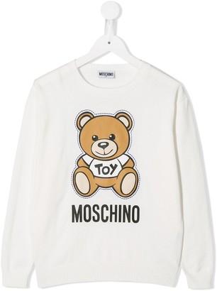 MOSCHINO BAMBINO Teddy Print Sweatshirt