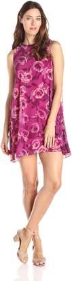 Donna Morgan Women's Sleeveless A Line Floral Printed Dress
