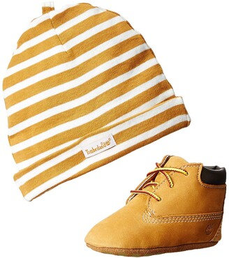 Timberland Crib Bootie With Hat (Infant) Unisex Babies Birth Shoes