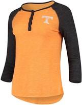 Colosseum Women's Heathered Tennessee Orange Tennessee Volunteers Slopsestyle Three-Quarter Sleeve Henley T-Shirt