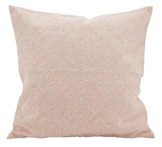Saro Lifestyle Swirled & Stitched Down Filled Throw Pillow
