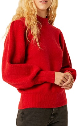 French Connection Flossy Balloon Sleeve Sweater