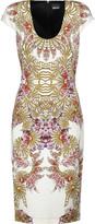 Just Cavalli Cutout printed stretch-jersey dress