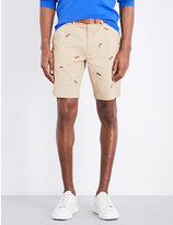 Polo Ralph Lauren Bulldog embroidered stretch-cotton shorts