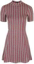 Petite jacquard flippy dress