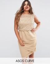 Asos Midi Dress with Embellished Bodice