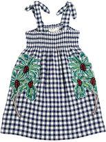 Stella McCartney Embroidered Cotton Seersucker Dress