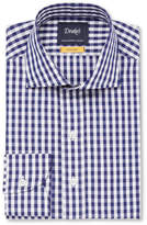 Drake's - Navy Easyday Cutaway-collar Gingham Cotton-poplin Shirt