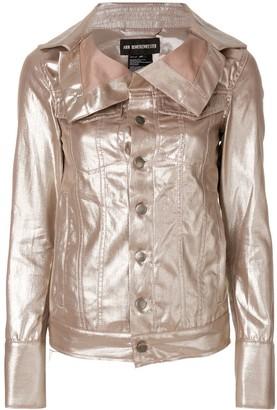Ann Demeulemeester oversized collar jacket
