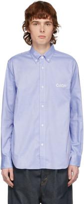 Comme des Garçons Homme Blue Logo Oxford Shirt