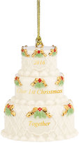 Lenox Annual 2016 Our 1st Christmas Together Cake Ornament