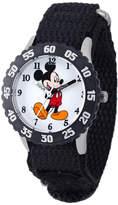 Disney Mickey Mouse Kids Black Nylon Strap Watch