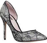 Carvela Glee Occasion Asymmetric Court Shoes, Black